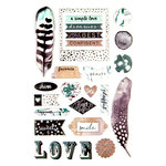 Prima - Zella Teal Collection - Puffy Stickers