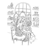 Prima - Princesses Collection - Cling Mounted Rubber Stamps - Gussy Up