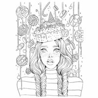 Prima - Princesses Collection - Cling Mounted Rubber Stamps - Sweet Tooth