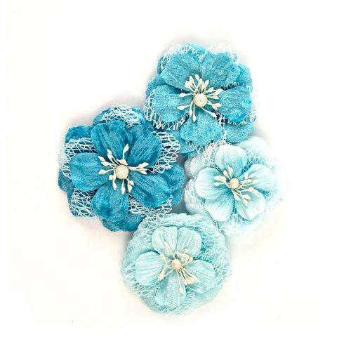 Prima - St. Tropez Collection - Flower Embellishments - Celeste