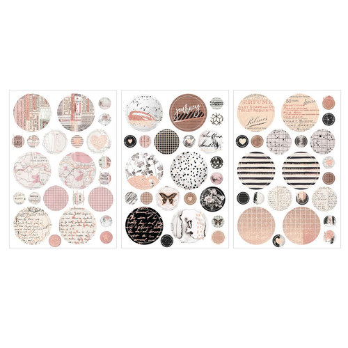Prima - Amelia Rose Collection - Cardstock Stickers with Foil Accents - Traveling Rose