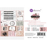 Prima - Amelia Rose Collection - 4 x 6 Journaling Cards with Foil Accents