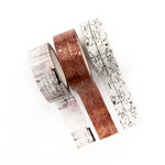 Prima - Amelia Rose Collection - Decorative Tape with Foil Accents - Class Notes