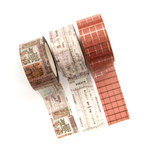 Prima - Amelia Rose Collection - Decorative Tape with Foil Accents - Receipts
