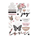 Prima - Amelia Rose Collection - Puffy Stickers