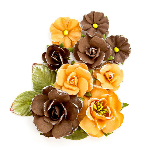 Prima - Amber Moon Collection - Flower Embellishments - Bramble