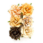 Prima - Amber Moon Collection - Flower Embellishments - Hazel