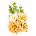 Prima - Amber Moon Collection - Flower Embellishments - Pumpkin