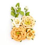 Prima - Amber Moon Collection - Flower Embellishments - Pumpkin