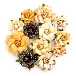 Prima - Amber Moon Collection - Flower Embellishments - Raven
