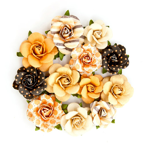 Prima - Amber Moon Collection - Flower Embellishments - Woodrow