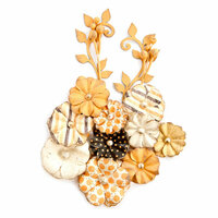 Prima - Amber Moon Collection - Flower Embellishments - Willow