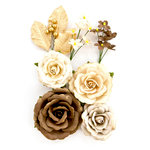 Prima - Amber Moon Collection - Flower Embellishments - Aspen