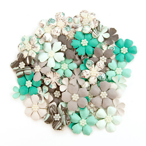 Prima - Zella Teal Collection - Flower Embellishments - Grands Adventure