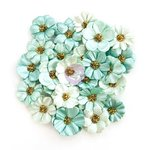 Prima - Zella Teal Collection - Flower Embellishments - Zella Dreams