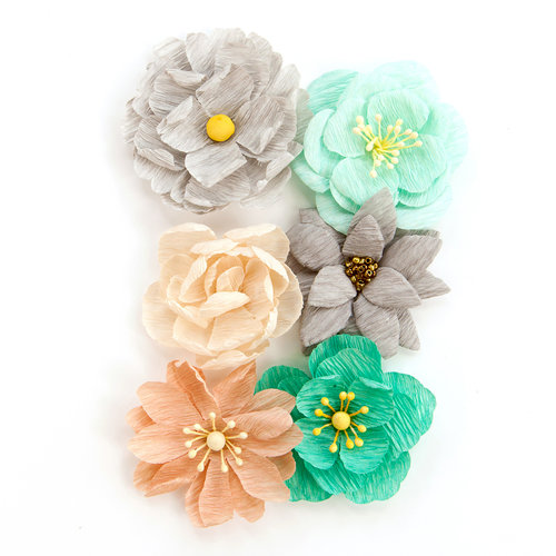 Prima - Zella Teal Collection - Flower Embellishments - Made With Love
