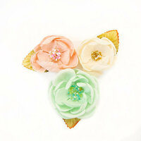 Prima - Santa Baby Collection - Christmas - Flower Embellishments - Cotton Candy Christmas