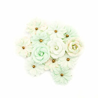 Prima - Santa Baby Collection - Christmas - Flower Embellishments - Sweet Mint