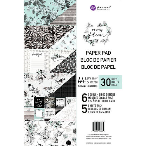 Prima - Flirty Fleur Collection - A4 Paper Pad