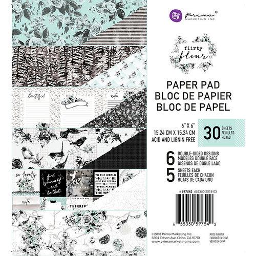 Prima - Flirty Fleur Collection - 6 x 6 Paper Pad