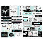 Prima - Flirty Fleur Collection - Cardstock Stickers - Quotes and Words with Foil Accents