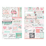 Prima - Havana Collection - Cardstock Stickers with Foil Accents - Quotes and Words