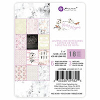 Prima - Cherry Blossom Collection - 3 x 4 Journaling Cards With Foil Accents