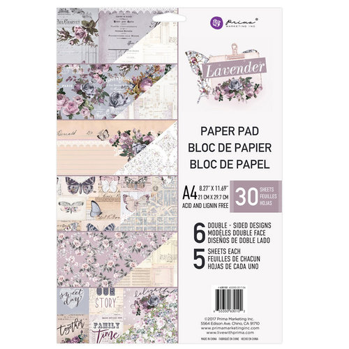 Prima - Lavender Collection - A4 Paper Pad