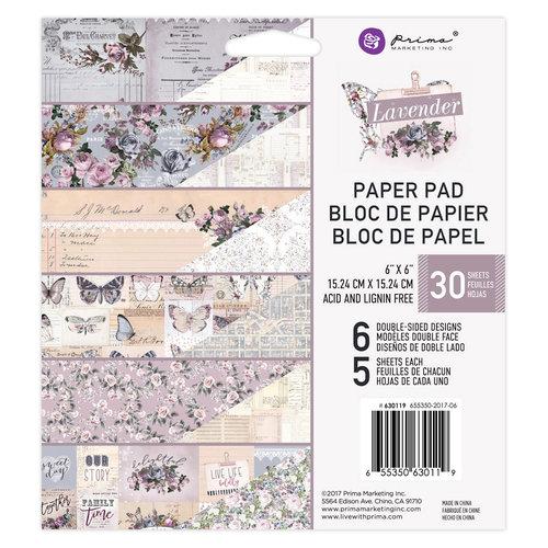 Prima - Lavender Collection - 6 x 6 Paper Pad