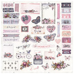 Prima - Lavender Collection - Ephemera with Foil Accents