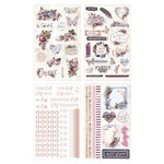 Prima - Lavender Collection - Cardstock Stickers with Foil Accents