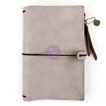 Prima - My Prima Planner Collection - Travelers Journal - Leather Essential - Warm Stone - Undated