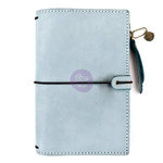 Prima - My Prima Planner Collection - Travelers Journal - Leather Essential - Ice Blue - Undated