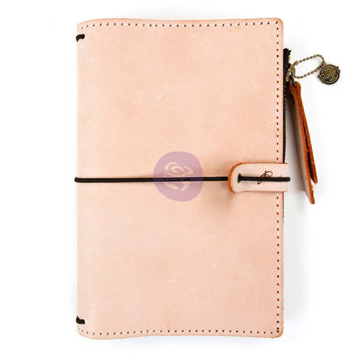 Prima - My Prima Planner Collection - Travelers Journal - Leather Essential - Peach - Undated