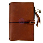 Prima - My Prima Planner Collection - Traveler's Journal - Leather Essential - Rust Brown - Undated
