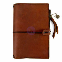 Prima - My Prima Planner Collection - Travelers Journal - Leather Essential - Rust Brown - Undated