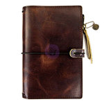 Prima - My Prima Planner Collection - Traveler's Journal - Leather Essential - Mocha Brown - Undated