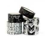 Prima - My Prima Planner Collection - Traveler's Journal - Decorative Tape - Vintage - Black and White