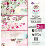 Prima - Misty Rose Collection - 12 x 12 Paper Pad with Foil Accents