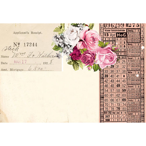 Prima - Misty Rose Collection - 4 x 6 Journaling Cards