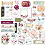 Prima - Misty Rose Collection - Ephemera with Foil Accents - One