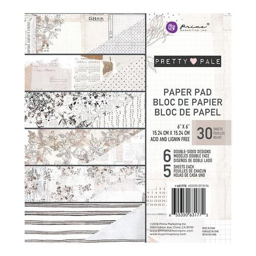 Prima - Pretty Pale Collection - 6 x 6 Paper Pad