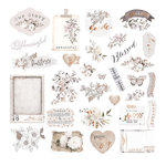 Prima - Pretty Pale Collection - Ephemera 1 with Foil Accents