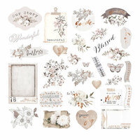 Prima - Pretty Pale Collection - Ephemera 1 with Foil Accents