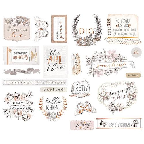 Prima - Pretty Pale Collection - Chipboard Stickers