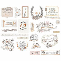 Prima - Pretty Pale Collection - Chipboard Stickers