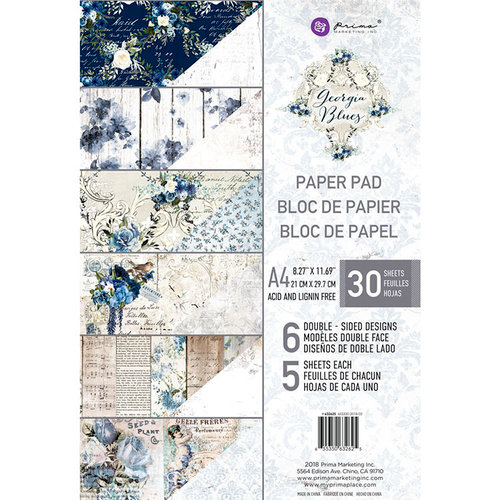Prima - Georgia Blues Collection - A4 Paper Pad
