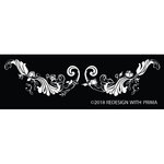 Prima - Re-Design Collection - Silk Screen Stencil - Delicate Fleur Scroll