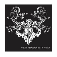 Re-Design - Silk Screen Stencil - Provence Rose