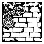 Prima - Re-Design Collection - Mixed Media Stencil - Brick and Damask